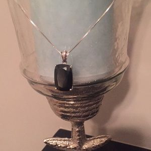 Sterling Silver Black Onyz Necklace.